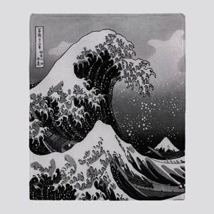 Japanese Wave Throw Blanket
