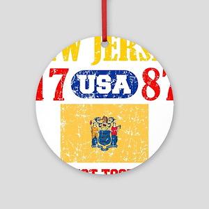 """NEW JERSEY / USA 1787 STATEHOOD """"PE Round Ornament"""