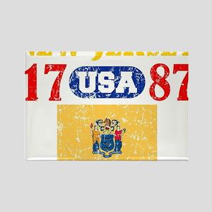 "NEW JERSEY / USA 1787 STATEHOOD "" Rectangle Magnet"