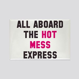 Hot mess express Rectangle Magnet
