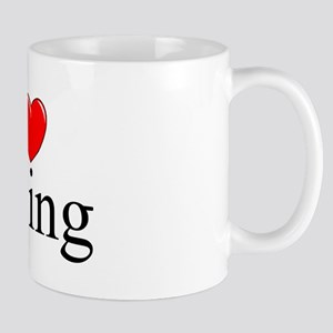 """I Love (Heart) Peeing"" Mug"
