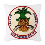 USS EPPERSON Woven Throw Pillow