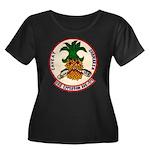 USS EPPE Women's Plus Size Scoop Neck Dark T-Shirt