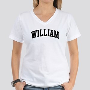 WILLIAM (curve-black) Women's V-Neck T-Shirt