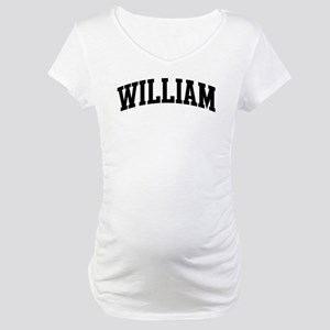 WILLIAM (curve-black) Maternity T-Shirt