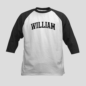WILLIAM (curve-black) Kids Baseball Jersey