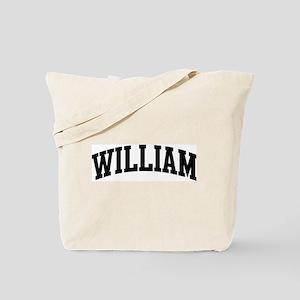 WILLIAM (curve-black) Tote Bag
