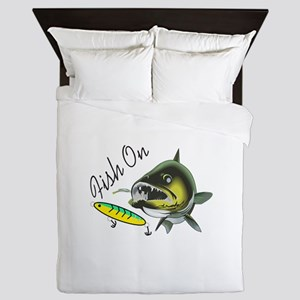 FISH ON Queen Duvet