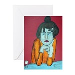 Woman With Absenth Cards (Pk of 10)