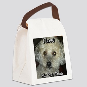 Love My Poo-Chon Canvas Lunch Bag