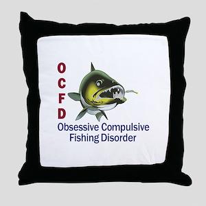 OCFD WALLEYE Throw Pillow