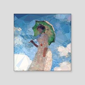 Madame Monet Parasol Low Poly Sticker