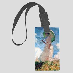 Madame Monet Parasol Low Poly Large Luggage Tag