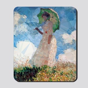 Madame Monet Parasol Low Poly Mousepad