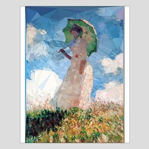 Madame Monet Parasol Low Poly Posters