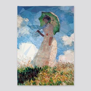 Madame Monet Parasol Low Poly 5'x7'area Ru