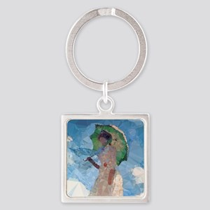 Madame Monet Parasol Low Poly Keychains