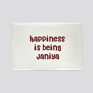 happiness is being Janiya Rectangle Magnet