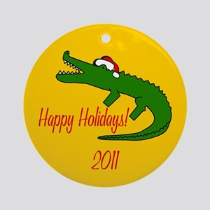 Alligator Round Christmas Ornament