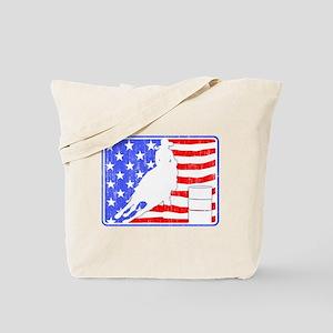 Barrel Racer (Flag Aged) Tote Bag