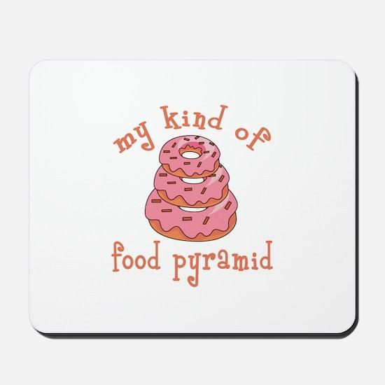 MY KIND OF FOOD PYRAMID Mousepad