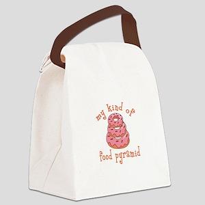 MY KIND OF FOOD PYRAMID Canvas Lunch Bag