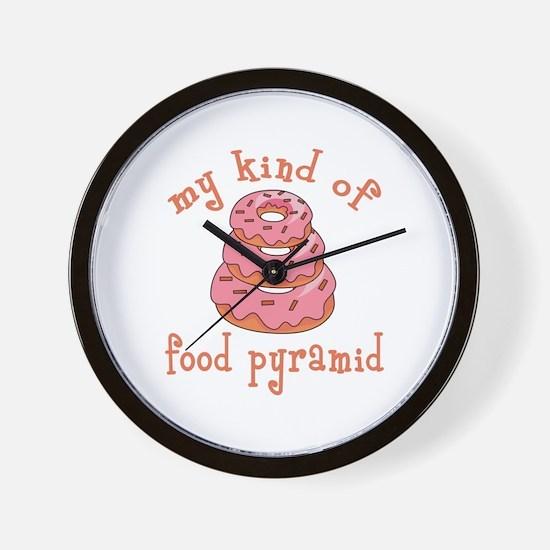 MY KIND OF FOOD PYRAMID Wall Clock