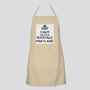 Keep calm we live in Rockville Maryland Apron