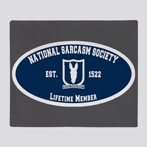 National Sarcasm Society Throw Blanket
