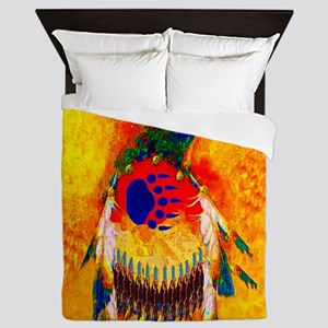 Bear Warrior Queen Duvet