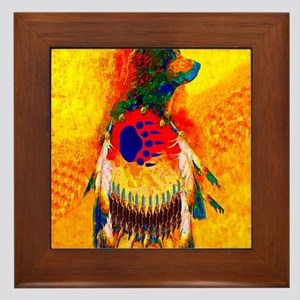 Bear Warrior Framed Tile