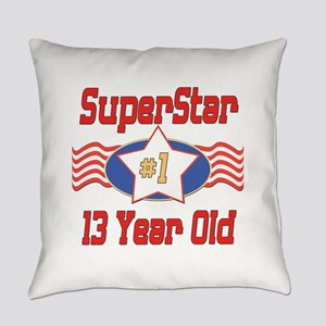 SUPERSTARbirthday13 Everyday Pillow