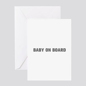 Baby on Board-Akz gray Greeting Cards