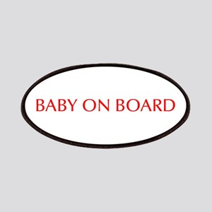 Baby on Board-Opt red Patch