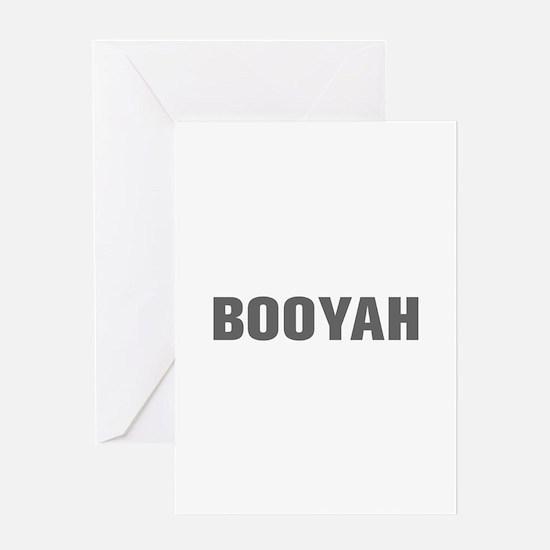 Booyah-Akz gray Greeting Cards