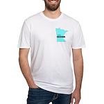 True Blue Minnesota LIBERAL Fitted T-Shirt