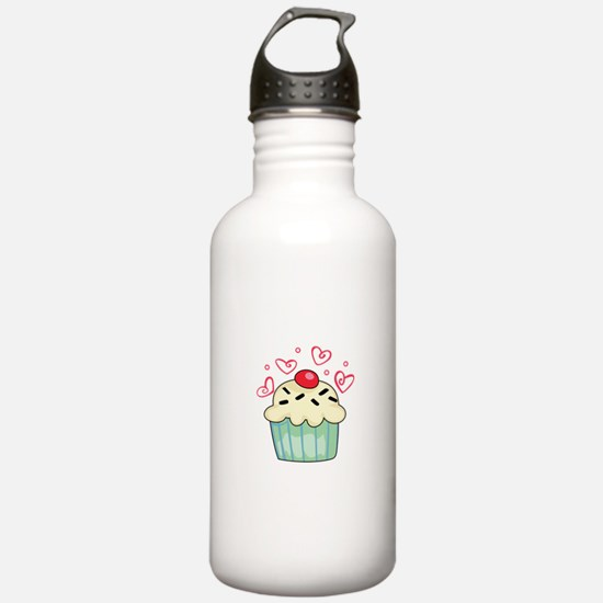 CUPCAKE AND HEARTS Water Bottle