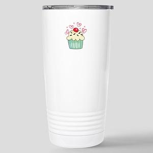 CUPCAKE AND HEARTS Travel Mug
