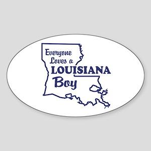 Louisiana Boy Oval Sticker