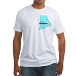 True Blue Rhode Island Liberal Fitted T-Shirt