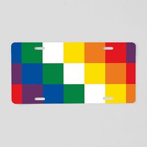Wiphala Aluminum License Plate