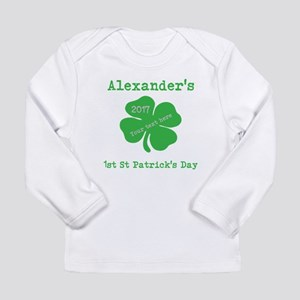 Babys 1st St Patricks Day Long Sleeve T-Shirt