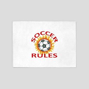 SOCCER RULES 5'x7'Area Rug