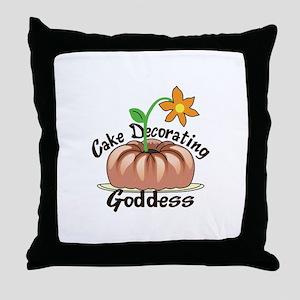 CAKE DECORATING GODDESS Throw Pillow