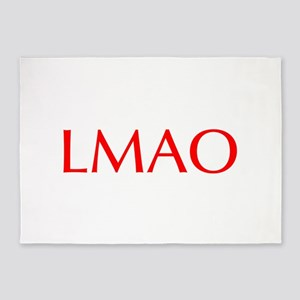 LMAO-Opt red 5'x7'Area Rug