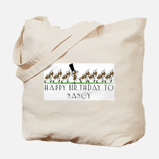 Happy Birthday Nancy (ants) Tote Bag