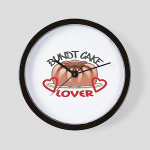 BUNDT CAKE LOVER Wall Clock