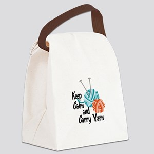 KEEP CALM AND CARRY YARN Canvas Lunch Bag