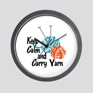 KEEP CALM AND CARRY YARN Wall Clock