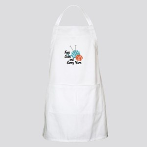 KEEP CALM AND CARRY YARN Apron